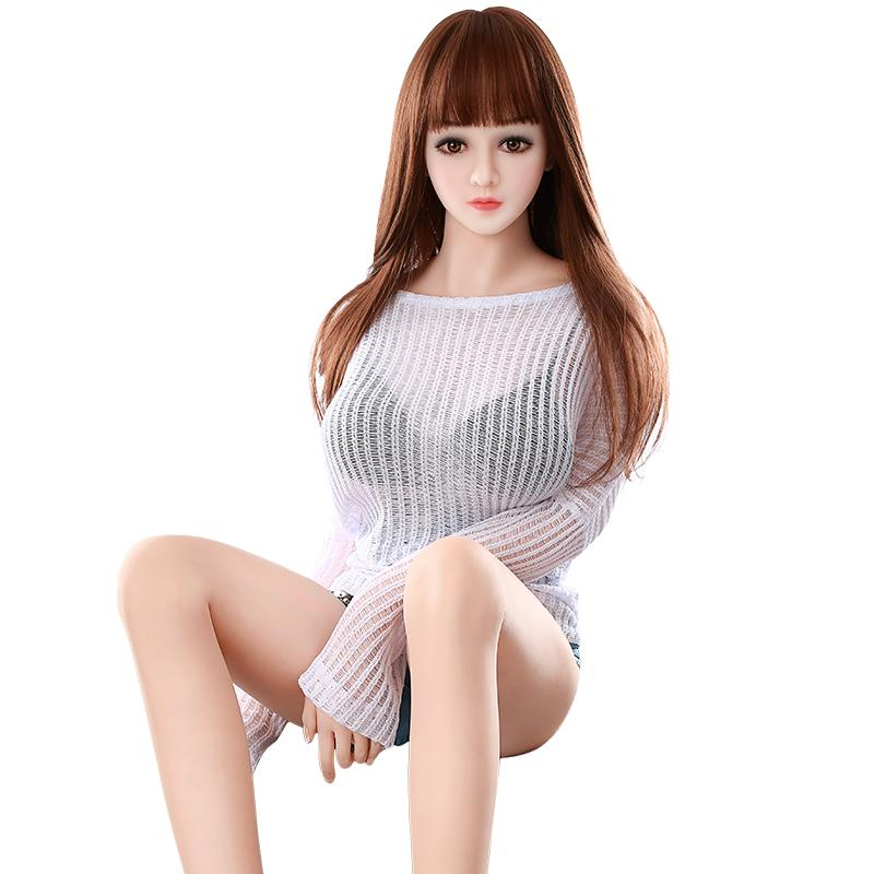 158cm height lifelike size full body sex doll big breast big ass silicone doll for man