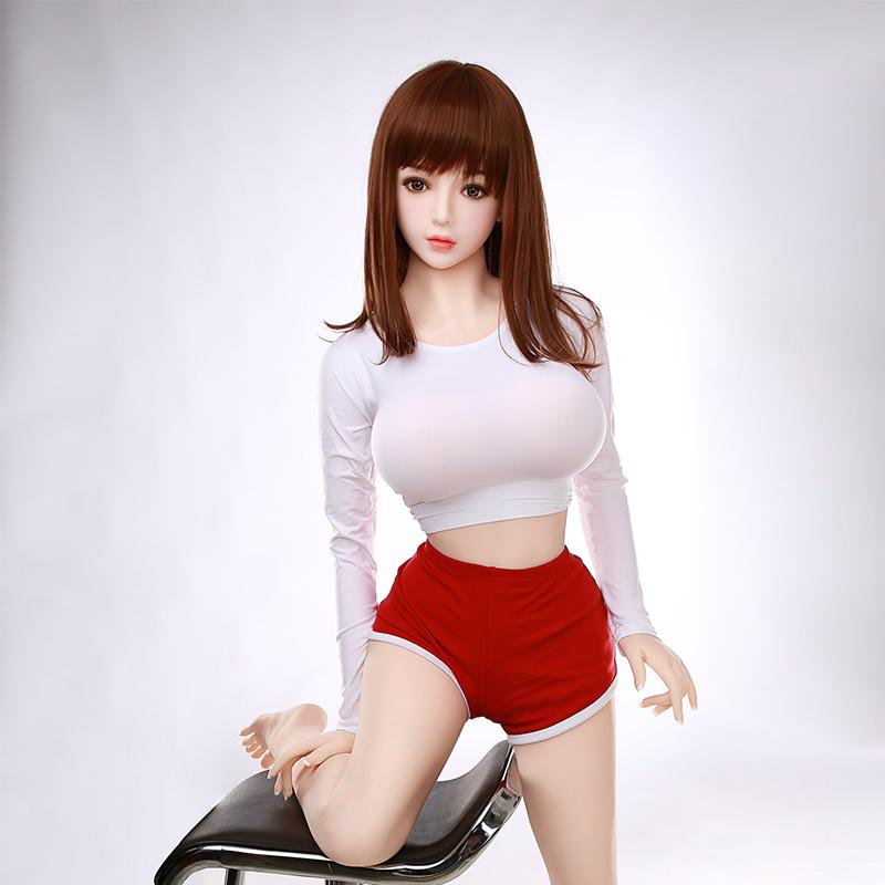 Best price real 158cm Asian love doll silicone sex dolls for men sexy
