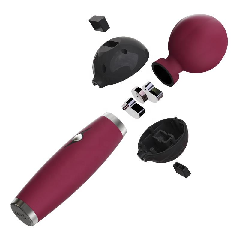 strong powerful women using personal electric handheld massager vibrator