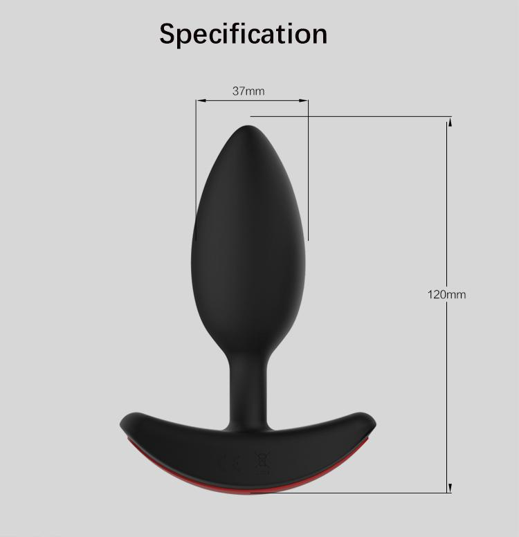 Heating Silicone Vibrating Anal Plug Set Butt Sex Anal vibrator for man Factory Direct Supply Wholesale