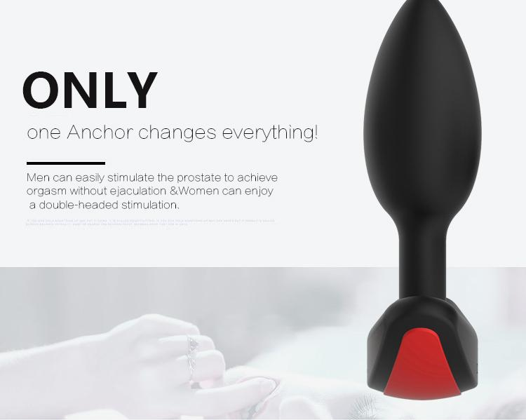 Hotselling Sex Toy Silicone Anal Wireless Vibrator Butt Plug Silicone Sex Toy