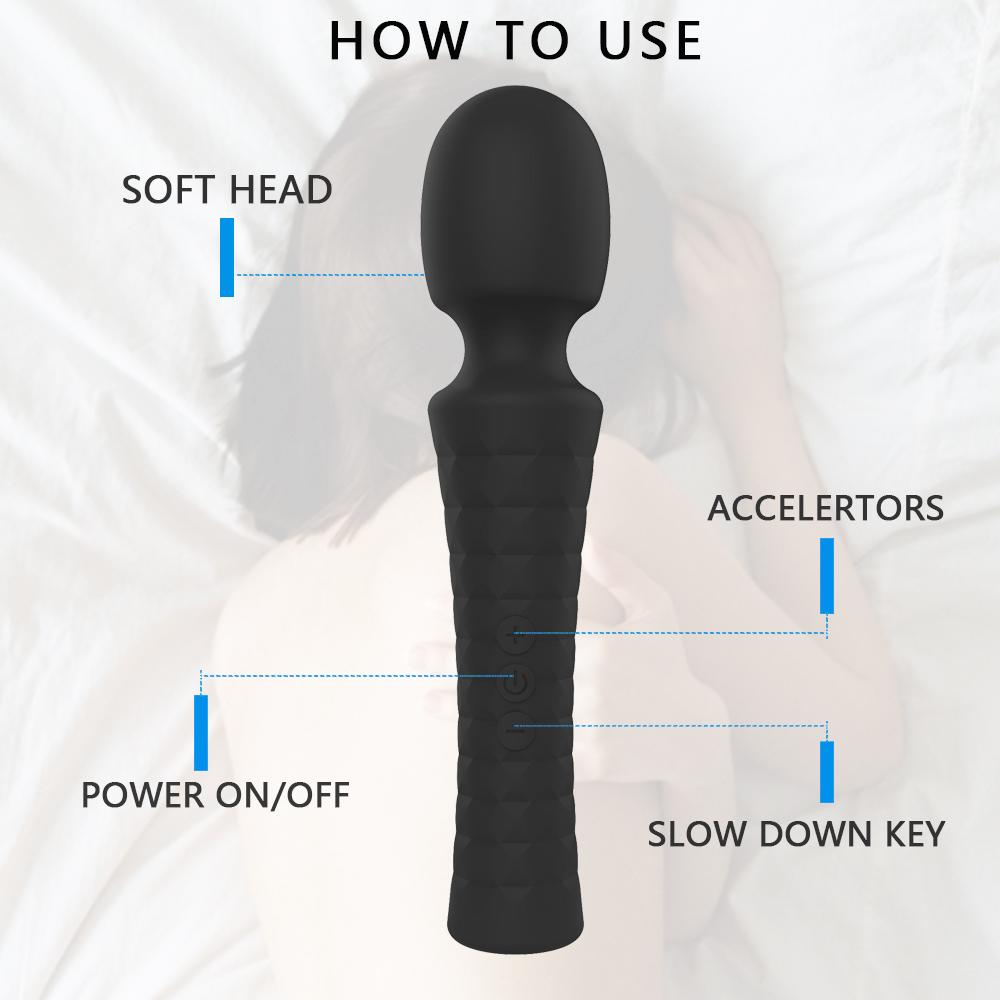 Strong Vibration AV Wand Clitoris Stimulator G-spot Vibrator Massager Sex Toys for Women Female Masturbator