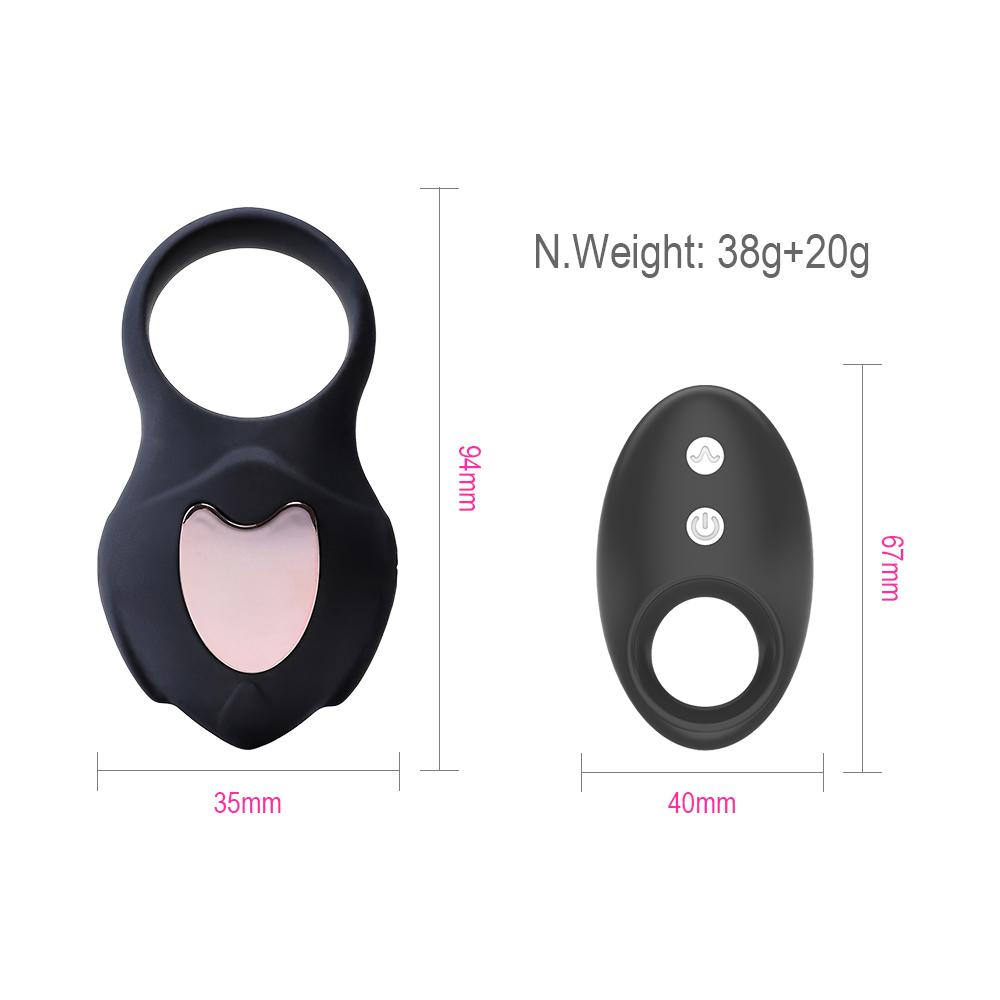 10 Speed Remote Control Cordless Penis Ring Stimulate Vagina Cock Ring