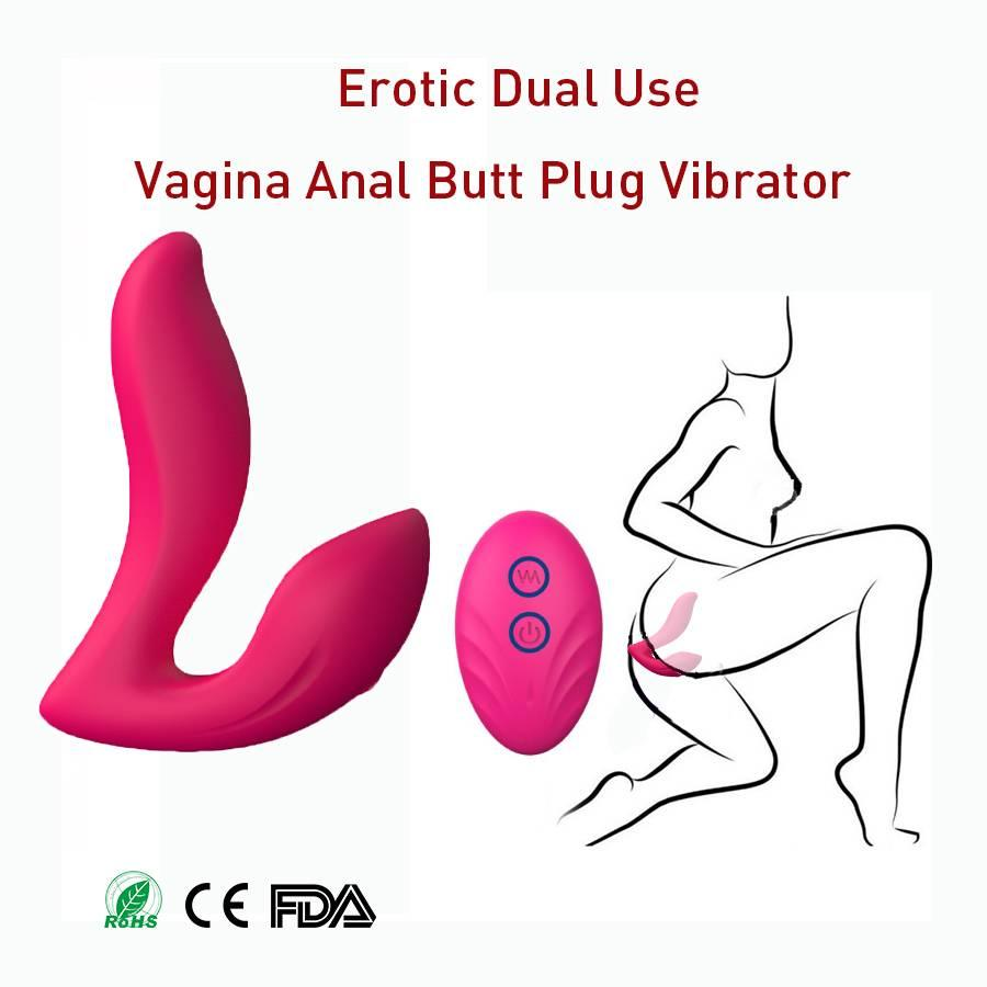 Luxurious wireless remote control silicone male anal butt plug sex toy for male and female anal vibrator